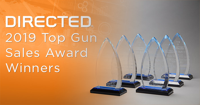 Directed Announces Top Gun Sales Award Winners for 2019