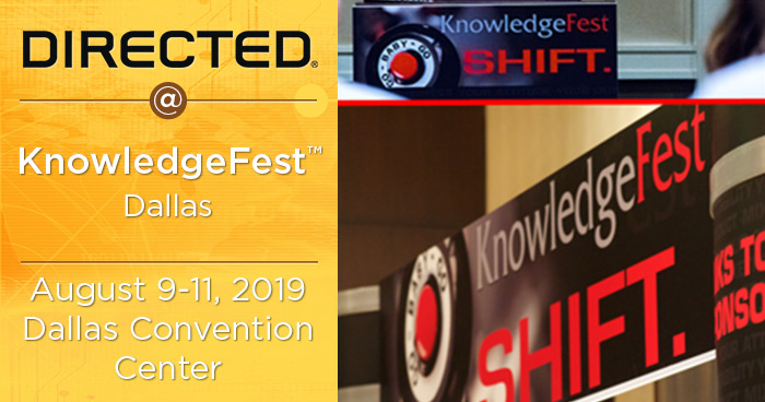 Directed Returns to KnowledgeFest Dallas